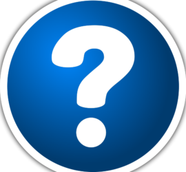 image of a white question mark on a blue circular background