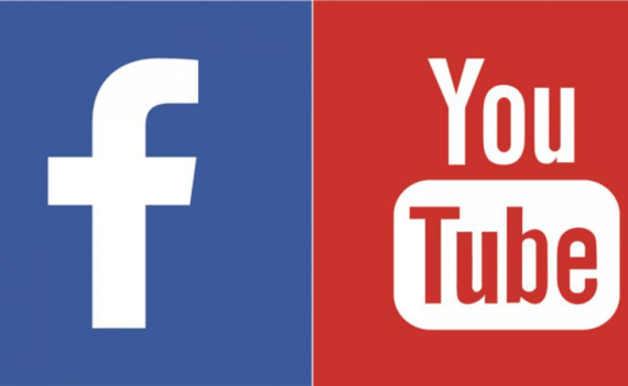 youtube facebook logos